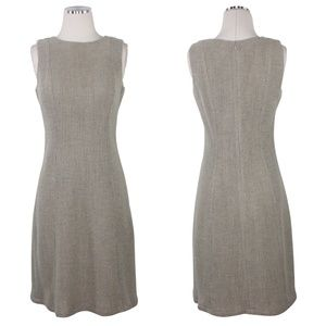 Loro Piana Cashmere Wool Sheath Dress Cream Blue 4
